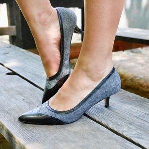 Pointed Toe Vintage Style Kitten Heels